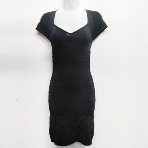 Bebe Black Bodycon Bandage Dress Cutout Back S